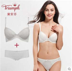 黛安芬新品透气舒适收副乳集中型套装文胸